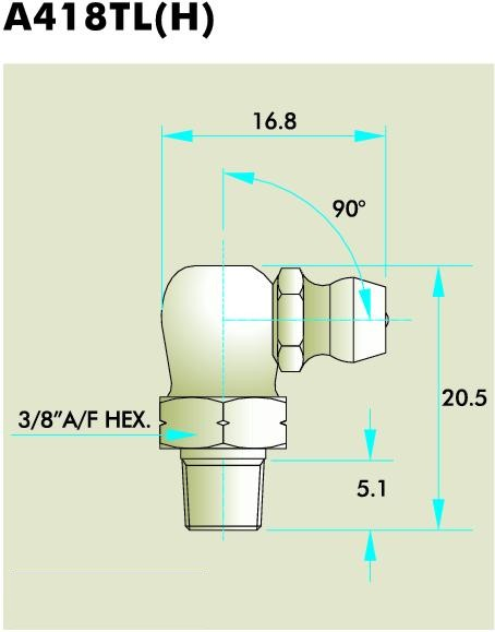 A418TL(H) Grease Fitting