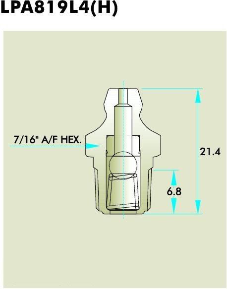 LPA819L4(H) Grease fitting
