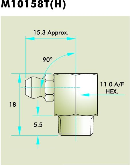 M10158T(H) Grease Fitting