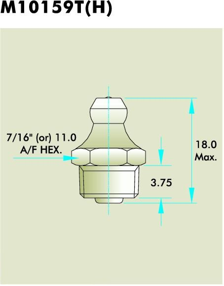 M10159T(H) Grease Fitting