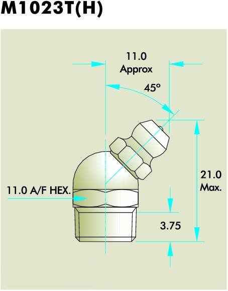 M1023T(H) Grease Fitting