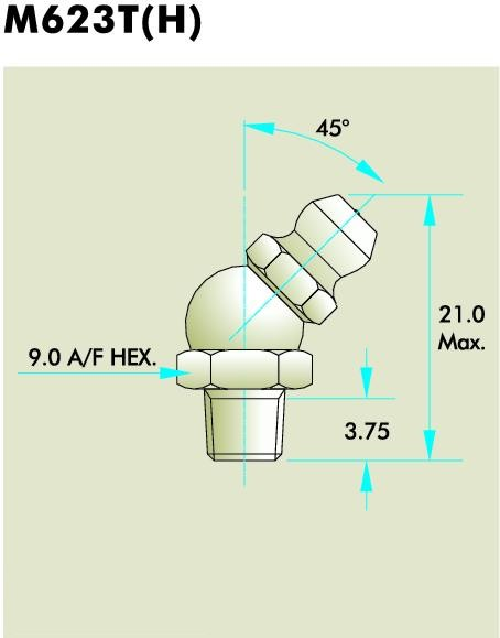 M623T(H) Grease Fitting