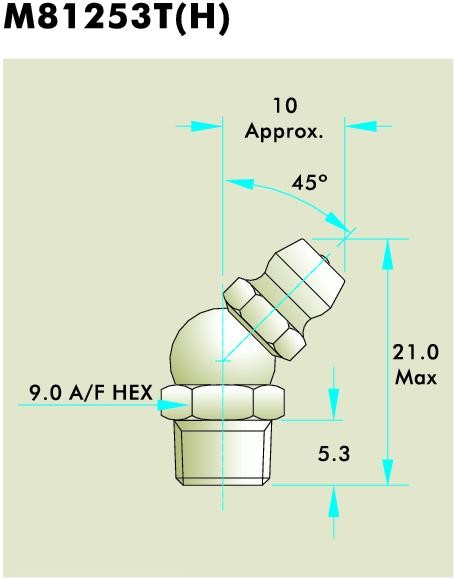 M81253T(H) Grease Fitting