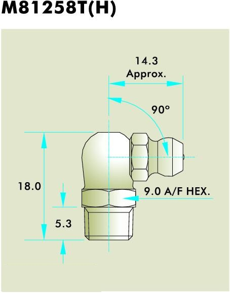 M81258T(H) Grease Fitting