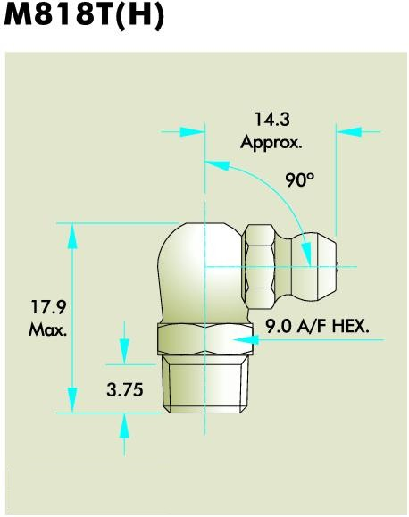 M818T(H) Grease Fitting