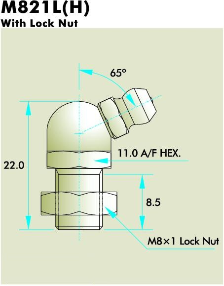 M821L(H) Grease Fitting