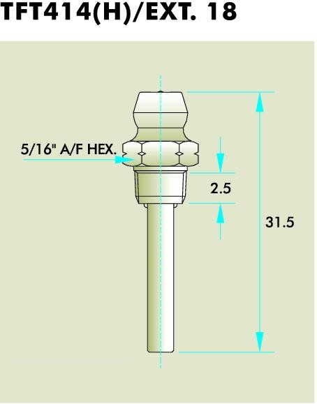 Thread Forming Thread Grease Fittings